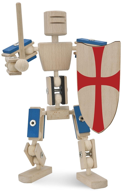 Actionfigur aus Holz - rewoodo Helden aus Holz Ritter - Ritter aus Holz - Holz Ritter Actionfigur