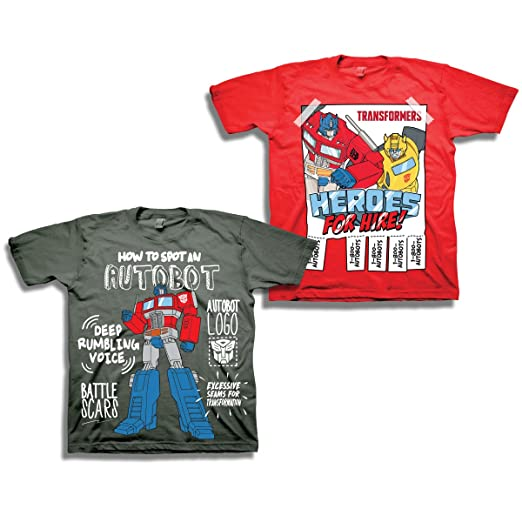 f370a722708fb Transformers Boys Optimus Prime Shirt - 2 Pack of Classic Tees - Optimus  Prime and Bumblebee