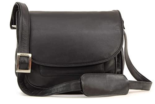 842252457a0f Visconti Atlantic Flapover Saddle Bag   Handbag - Black - 2195 ...