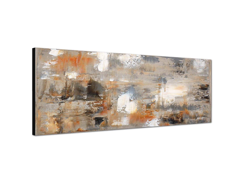 Paul Sinus Art - Quadro con pittura astratta su tela, dimensioni: 150 x 50 cm, colore: marrone/grigio Augenblicke Wandbilder