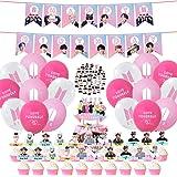 Los suministros para fiesta de cumpleaños de BTS incluyen 22 decoraciones para cupcakes, pancarta de cumpleaños, 21 globos. 4