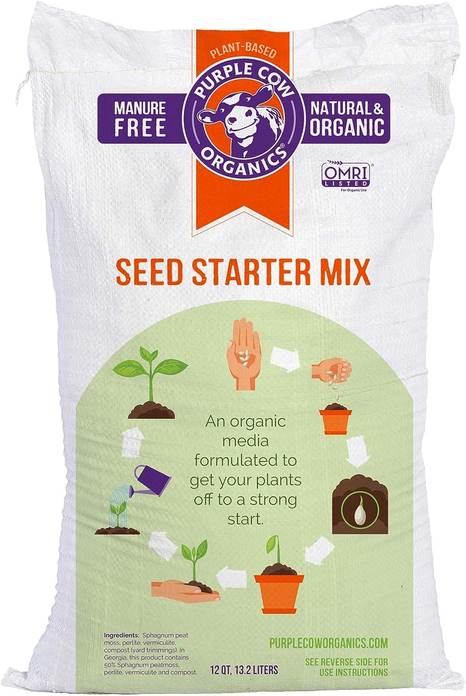 Purple Cow Organics Seed Starter Mix 1 Cubic Foot Bag