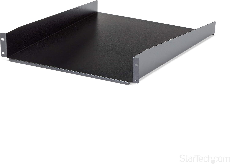 Amazon Com Startech Com 2u Fixed Server Rack Mount Shelf 22