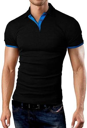 44227a17f25148 Grin Bear Slim Fit Contrast Poloshirt Polo