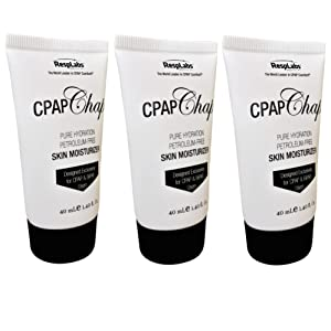 CPAP Face Cream, CPAP Chap by RespLabs | 1.4oz Petroleum Free Skin Moisturizer Designed for CPAP & Oxygen Therapy Users | Prevent Skin Breakdown & Lock In Moisture (3 pack)