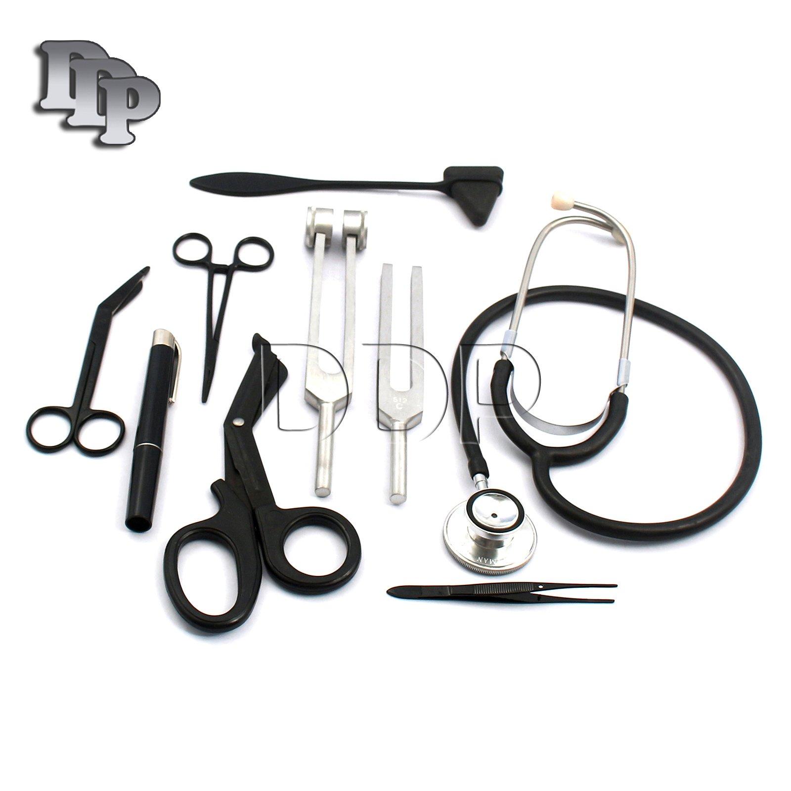 DDP - SOLID BLACK FIRST AID KIT DIAGNOSTIC EMT NURSING MEDICEMS STUDENT PARAMEDIC by DDP (Image #1)