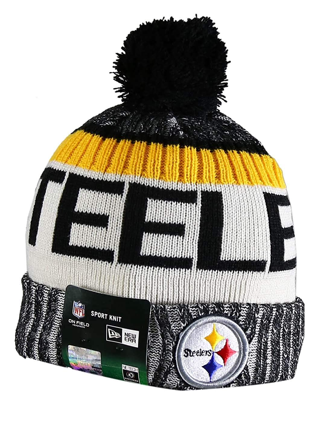 Amazon.com  PIT STEELERS Sport Knit Winter Wool Warm Beanie Pom Hat  Multicolour  Clothing 5392bef743b