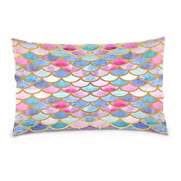Amazon.com: ALAZA - Funda de almohada de algodón con diseño ...