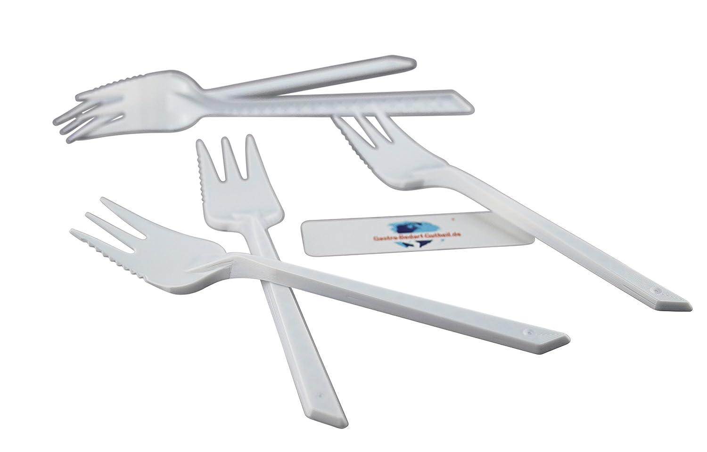 1000 x Kuchengabel/Snackgabel Plastik mit Sä gerand von Gastro-Bedarf-Gutheil