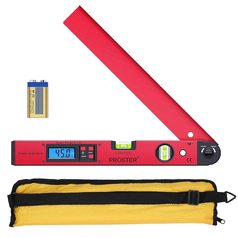 Proster 0~225/° LCD Digital Inclinometer Protractor Spirit Level Angle Finder Gauge Meter