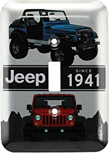 Open Road Brands Jeep Collage Embossed Metal Switch Plate