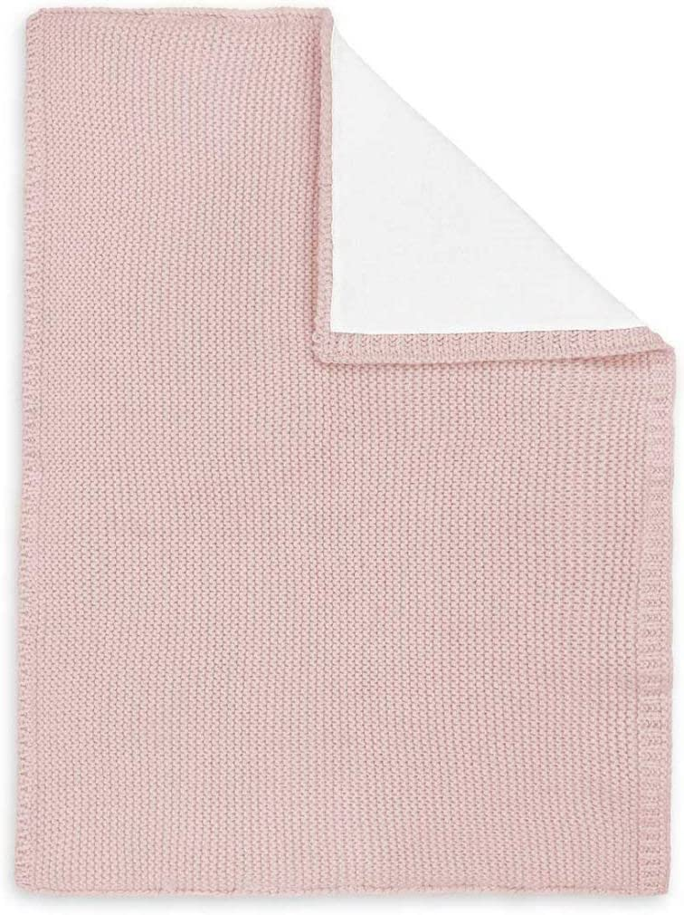 Katie Loxton Childrens Little 27.5 x 19.5 All Cotton Knit Throw Blanket in Pink