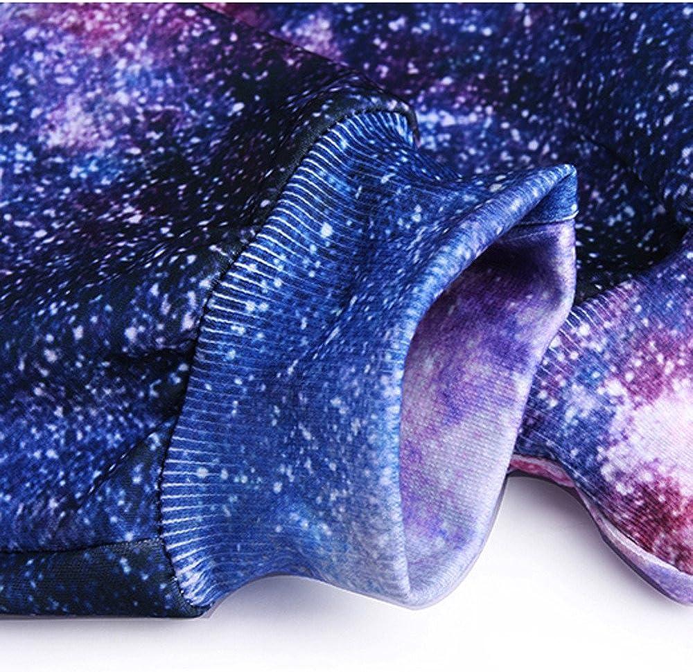 Geetobby Men Elastic Trousers 3D Star Print Sweatpants Pocket Casual Sport Pants