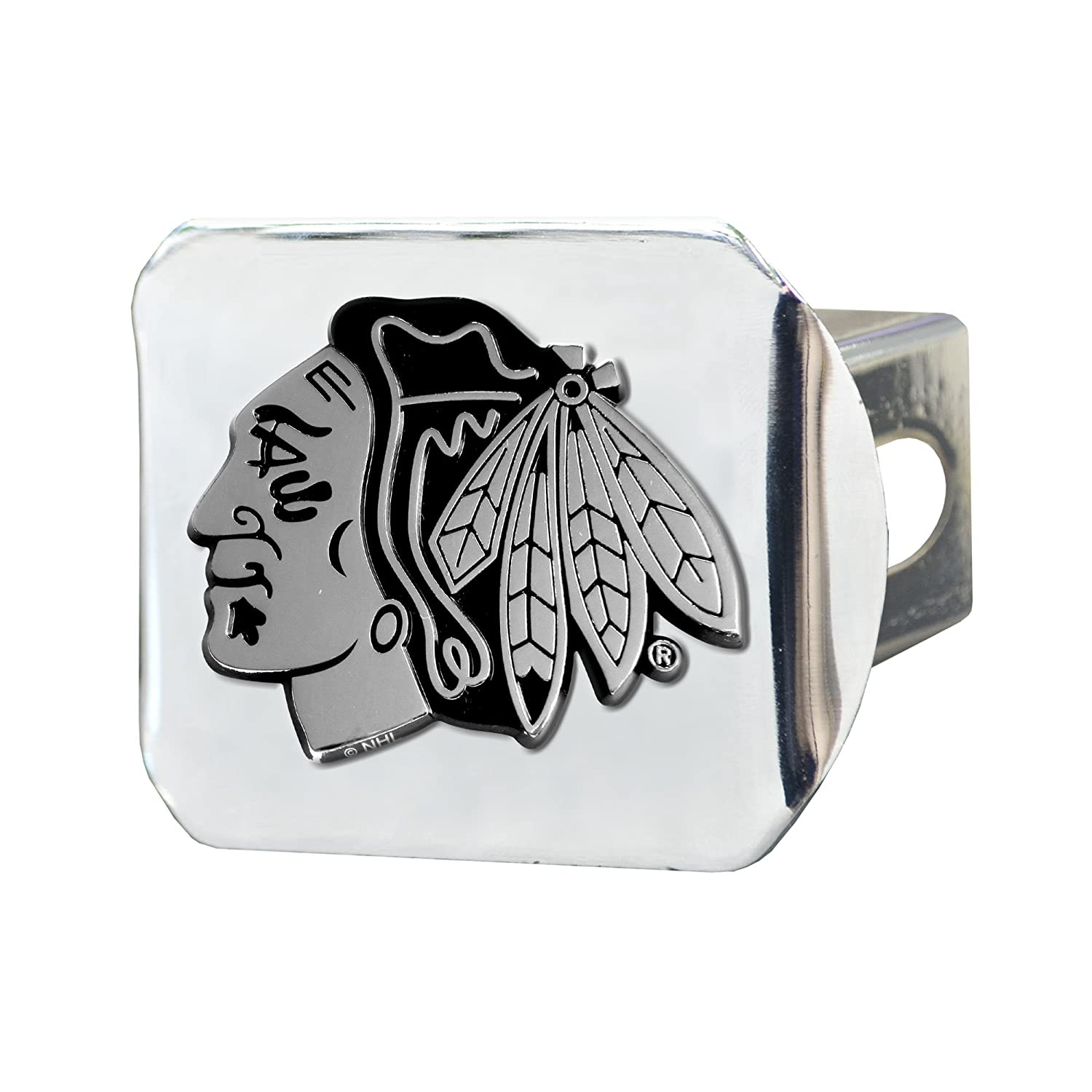 FANMATS 14963 NHL Chicago Blackhawks Chrome Hitch Cover