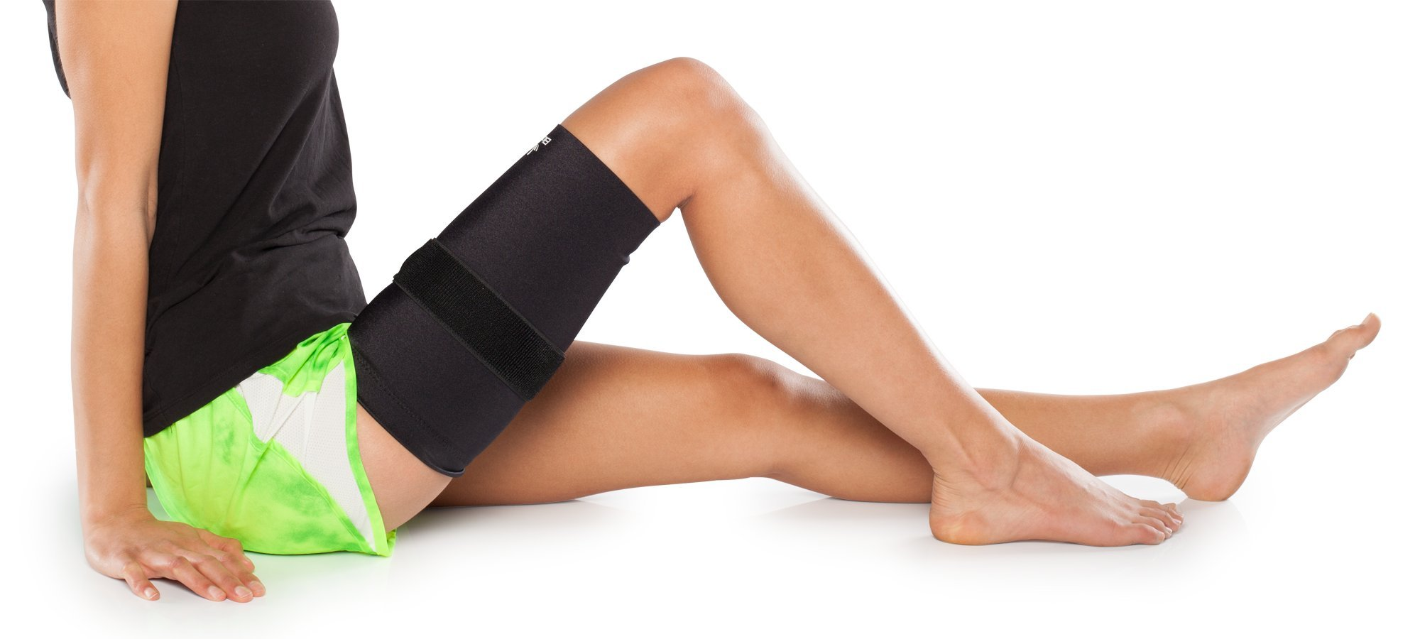 Medical Grade Compression Sleeve with Additional, Targeted Compression Cinch Strap to Relieve Pain from Quad and Hamstring Strains and Injuries - Thigh Skin with Cinch by BioSkin (Medium)
