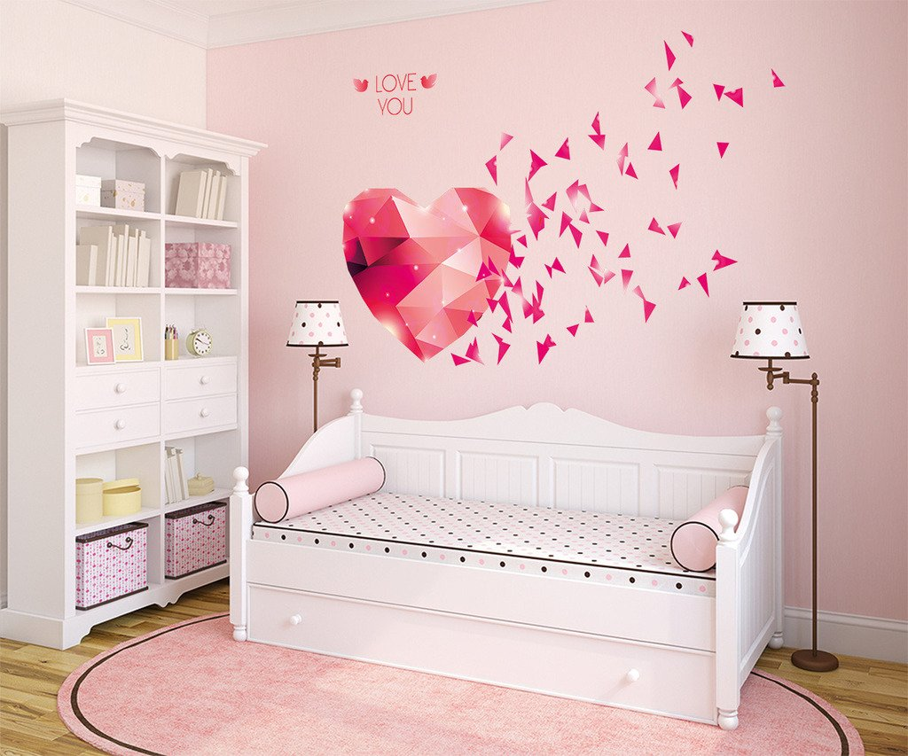 Buy decals design love you hearts blowing wall sticker pvc buy decals design love you hearts blowing wall sticker pvc vinyl 70 cm x 50 cm online at low prices in india amazon amipublicfo Choice Image