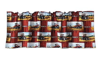 Case IH Tractor Window Valance On Barnwood Background