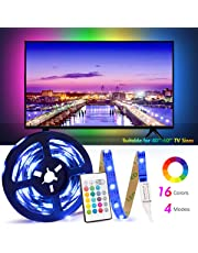 USB Tira Led para TV con una longitud de 2.5 metros. P24 teclas con control remoto por infrarrojos para controlar la tira LED. Luz RGB 5050 con 16 colores.