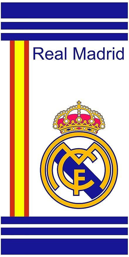 Real Madrid Toalla de playa de algodón de 150 x 75 cm.