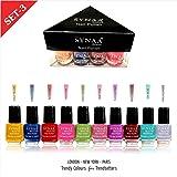Synaa Nail Polish Set, 240g (Multicolor) - Pack of 10