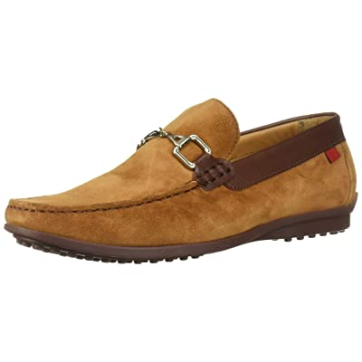 MARC JOSEPH NEW YORK Mens Grainy Leather Carneige Hill Buckle Loafer, Rust Suede, 11 M US | Loafers & Slip-Ons