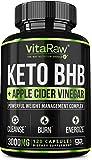 Keto Pills with Green Tea + Organic Apple Cider Vinegar Capsules [ Powerful 3000MG Diet Pills ] Exogenous Ketones…