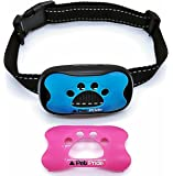 Pet-Pride's Bark Stop Collar STOPS BARKING IN HOURS for Small dogs & Large Dogs (Pink & Blue). Durable Anti-bark Static Shock & Ultrasonic Sound will Correct Bad Bark Behavior with Pet Safe Results.