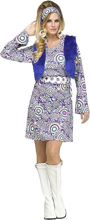 60s Costumes: Hippie, Go Go Dancer, Flower Child, Mod Style Fun World Shaggy Chic Adult Costume- $28.65 AT vintagedancer.com