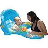 Poolmaster 81548 Learn-to-Swim Mommy & Me Baby Float Rider with Retractable/Removable Canopy