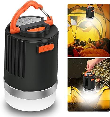 luci di emergenza IP65 per esterni zaino da escursionismo pesca Uragani Elepowstar 2-in-1 impermeabile 10050 mAh USB caricabatteria esterno Lanterna da campeggio a LED /& Power Bank
