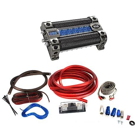 71SlNmhaxVL._SY463_ amazon com boss cap8 farad audio power capacitor with bullz audio