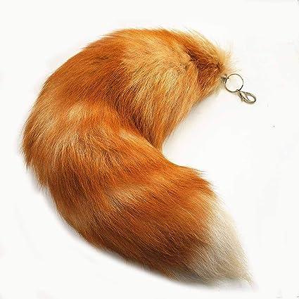 Llavero con forma de cola de zorro, llavero con forma de ...