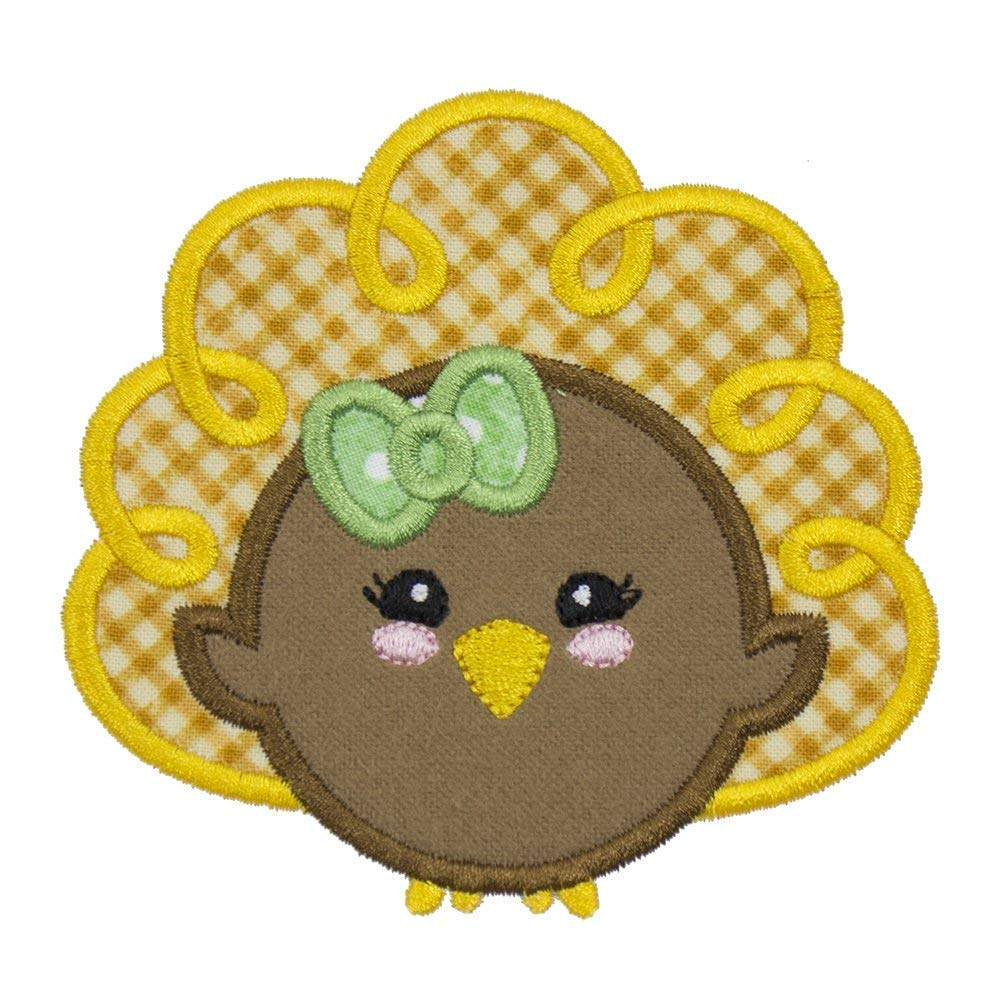 Turkey Girl Patch in your choice of sew on or iron on patch