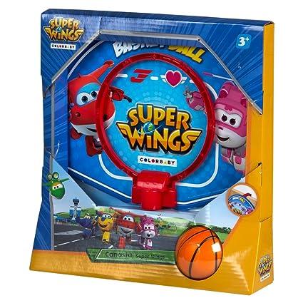 Super Wings - Mini canasta de baloncesto 28x22 cm (77053)
