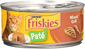 Friskies Mixed Grill Dinner Cat Food 5.5 oz (Pack of 24)