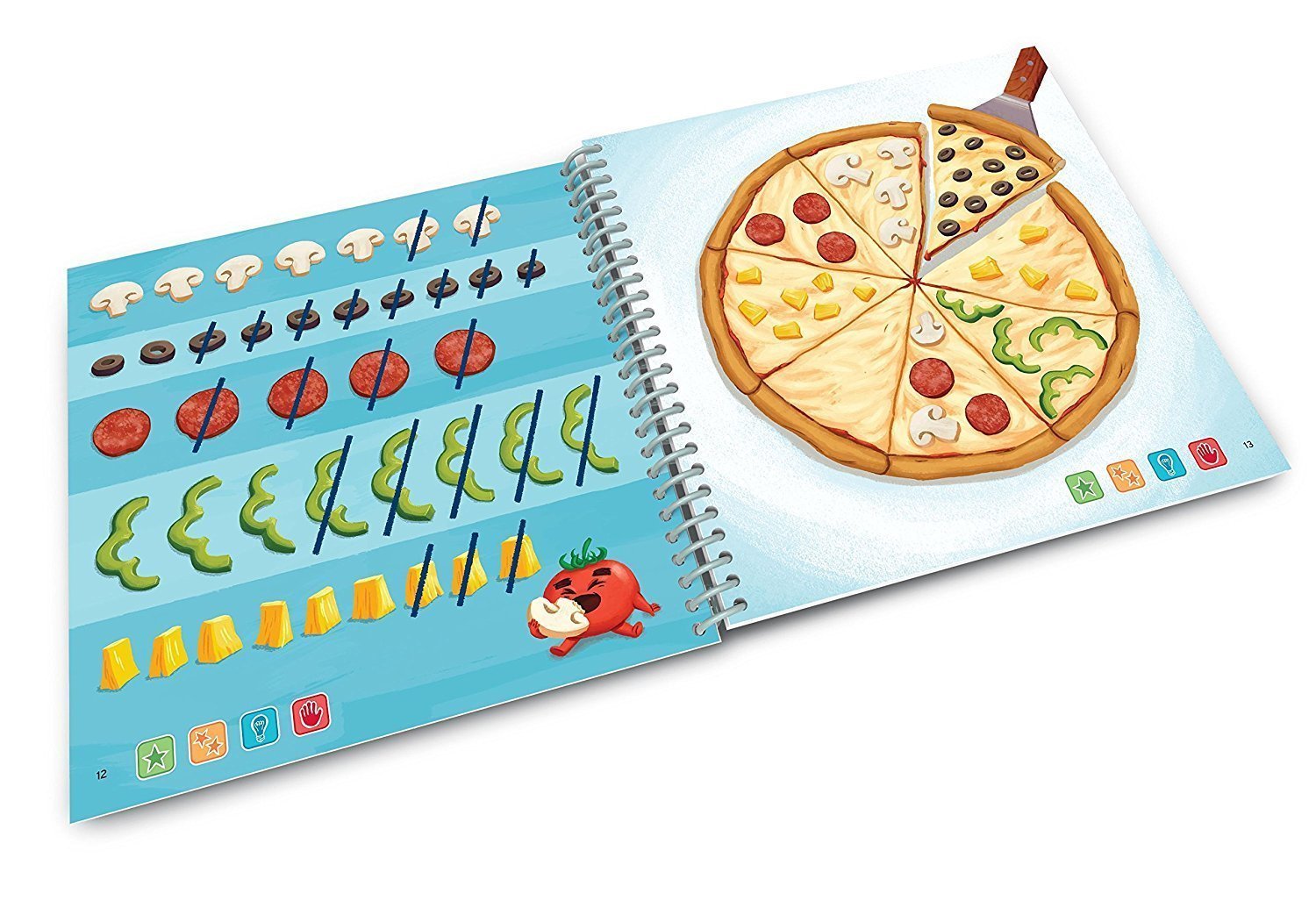 LeapFrog LeapStart Level 3 Kindergarten Book Bundle with Reading Adventures and Cook It Up! Math by LeapStart (Image #6)