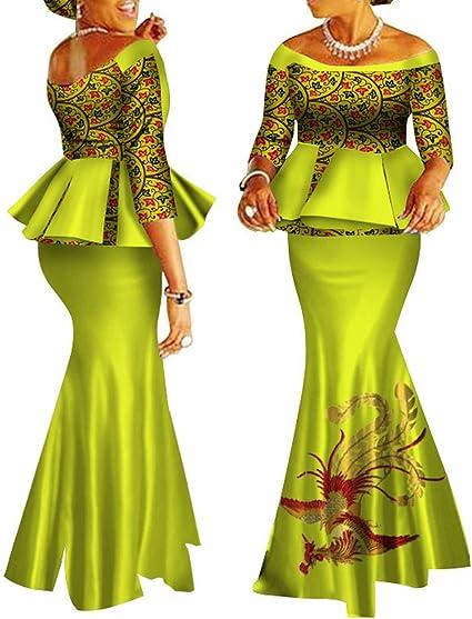 Women clothing African women clothes Ankara skirt and top Hand made