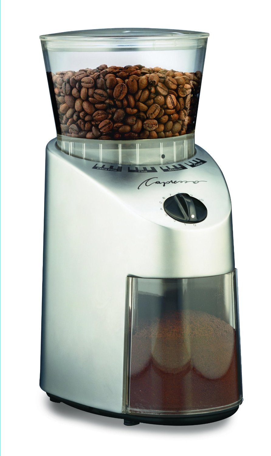 Most Popular Selling Top Rated 100-Watt Multi-Setting Adjustable Slow Grind Commercial Grade Whole Bean Flavor Stainless Steel Conical Burr Coffee Grinder- Amazing Quality- Smooth Perfect Coffee Today