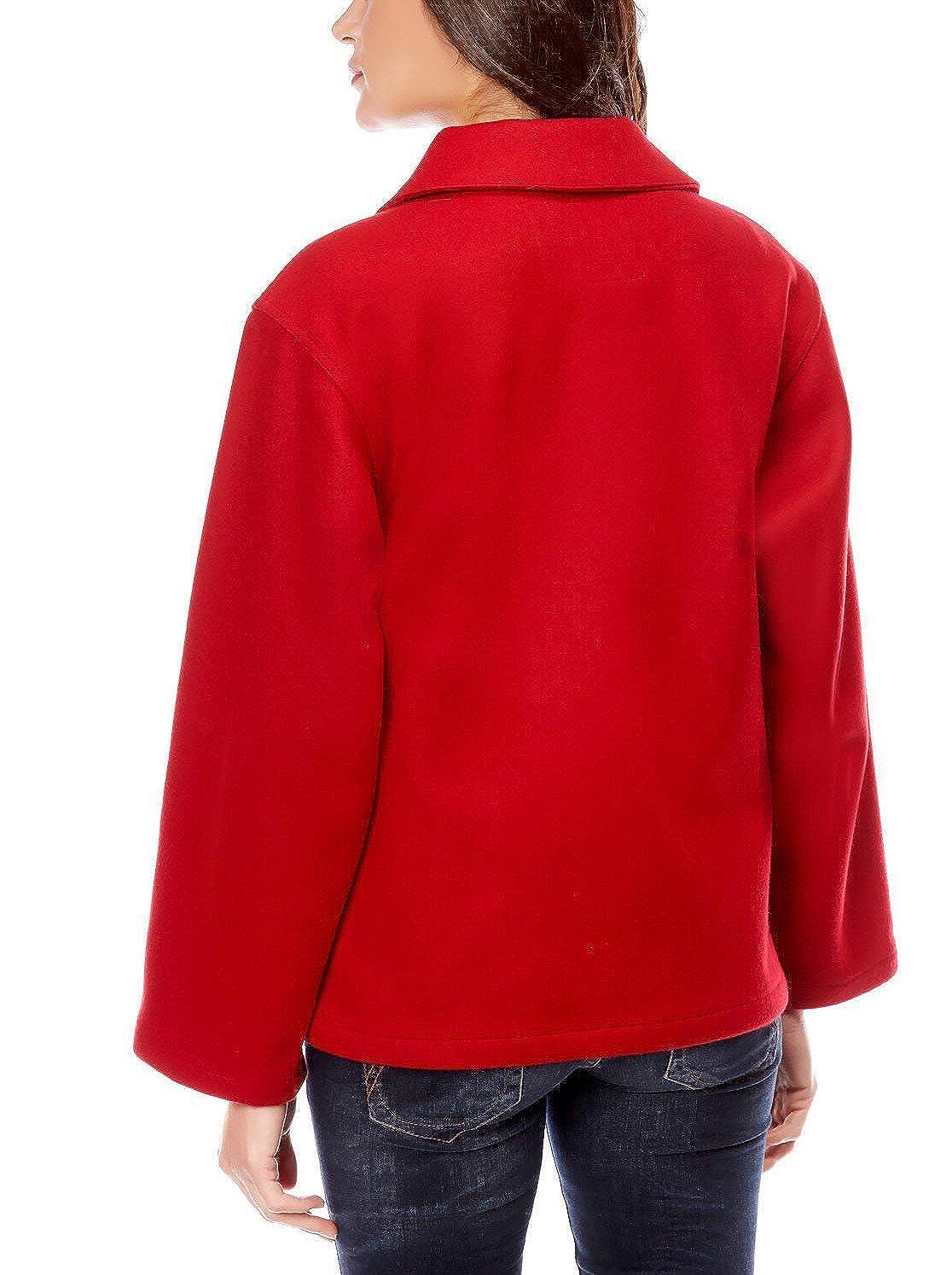 c48092c213 Dalmard Marine - Veste Laine Made in France Couleur - Rouge, Taille Femme -  44: Amazon.fr: Vêtements et accessoires