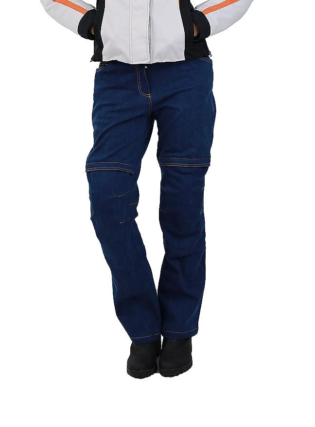 Nerve Ata Jeans Pantalones Vaqueros de Moto para Mujer, Azul ...