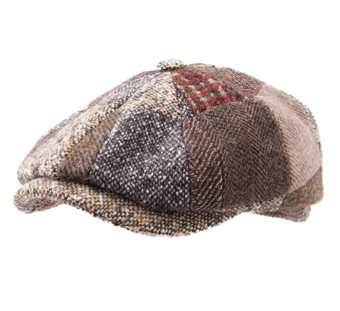 f5b89b251f0 Stetson - Flat Cap Men Hatteras Patchwork - Size 55 cm  Amazon.co.uk ...