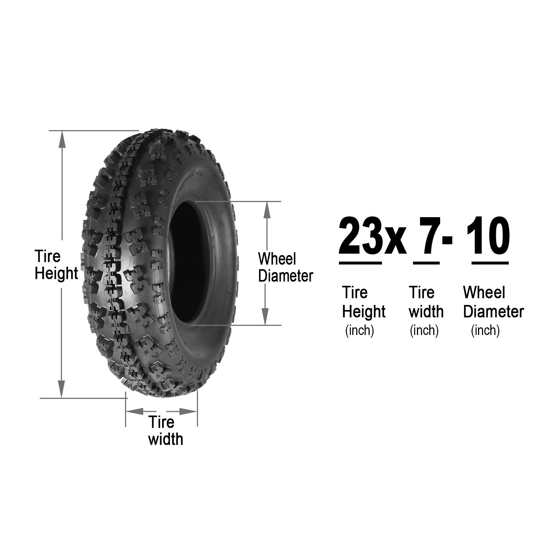 Set of 2 Sport ATV Tires AT 23x7-10 23x7x10 23x7x10 6PR Load Range C 36J by MaxAuto (Image #4)