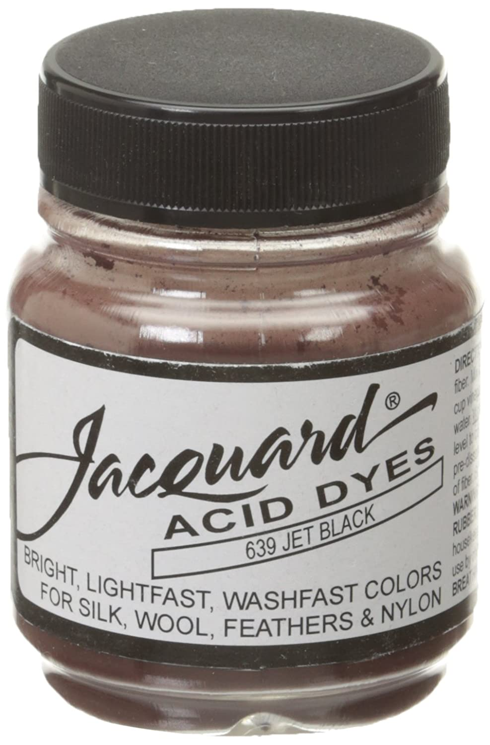 Jacquard Acid Dyes 1/2 Ounce-Jet Black Notions - In Network 102860