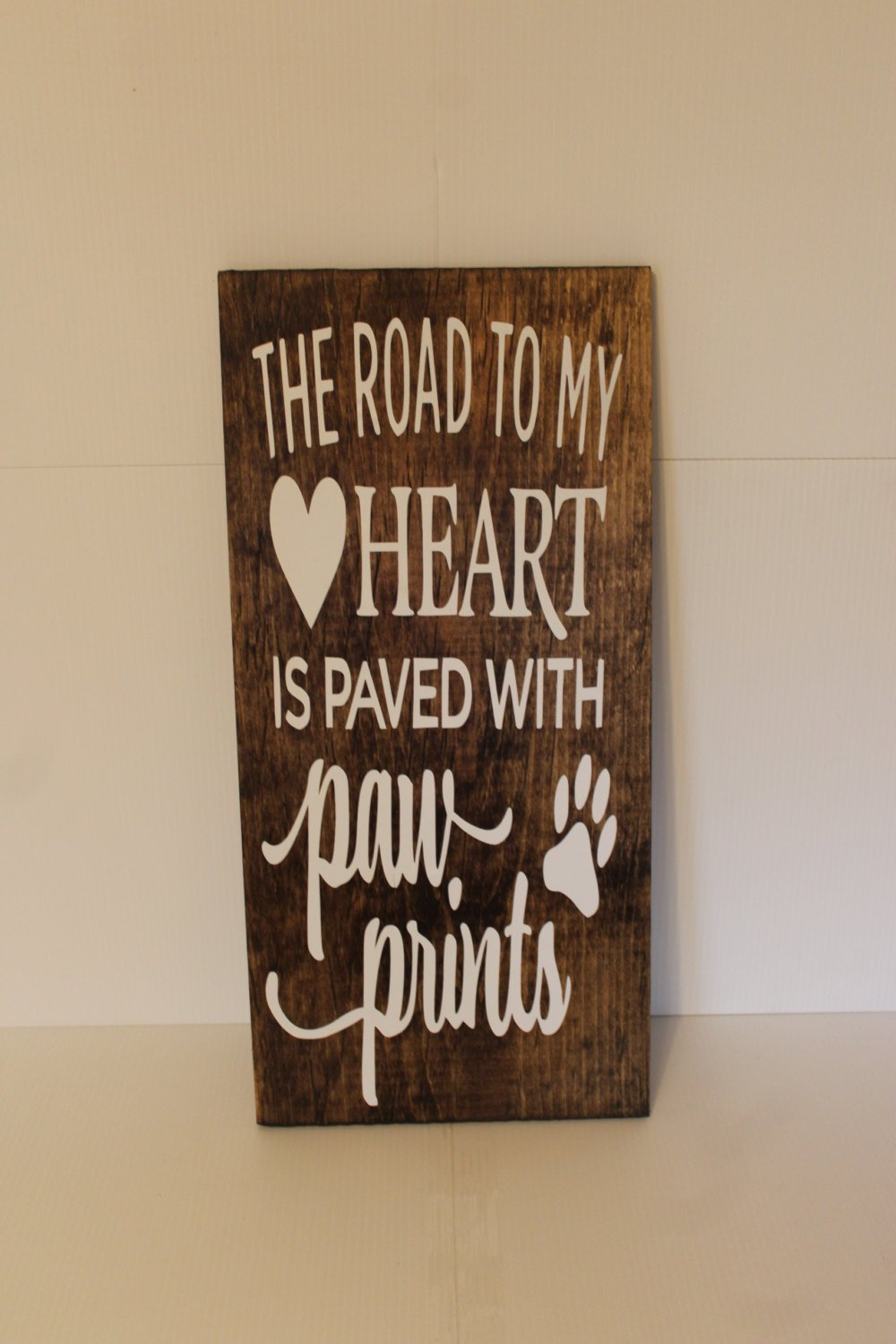 Ivy Dalton Dog Decor The Road To My Heart Is Paved With Paw prints Animal Lover Pet Sign Gift Memorial