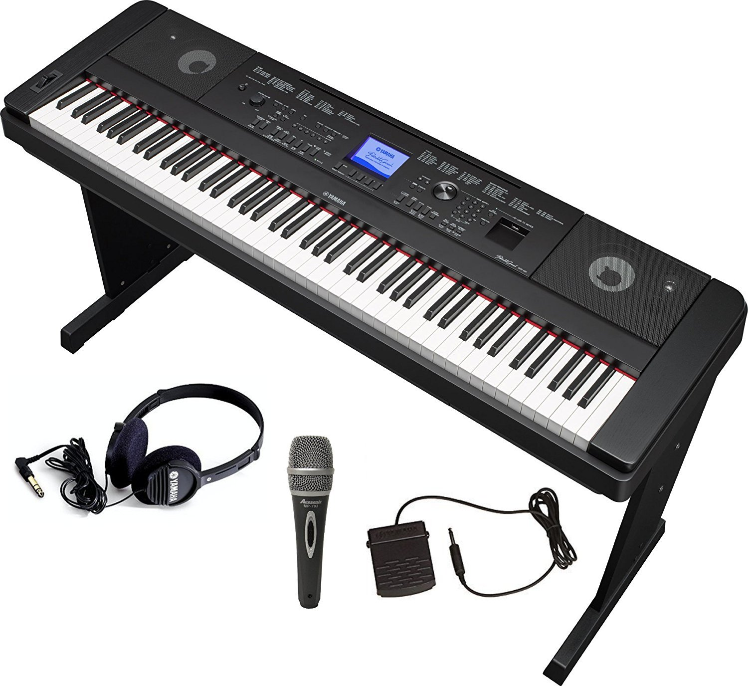 Yamaha DGX660 Bundle with Furniture Stand, Headphones, Microphone and Sustain Pedal by YAMAHA