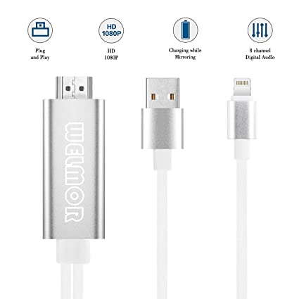 Consumer Electronics 8 Pin To Hdmi Cable Hd 1080p Hdmi Converter Adapter Cable For Iphone X 8 7 6 6s Plus 5 5s Se For Apple Tv Plug And Play Digital Cables