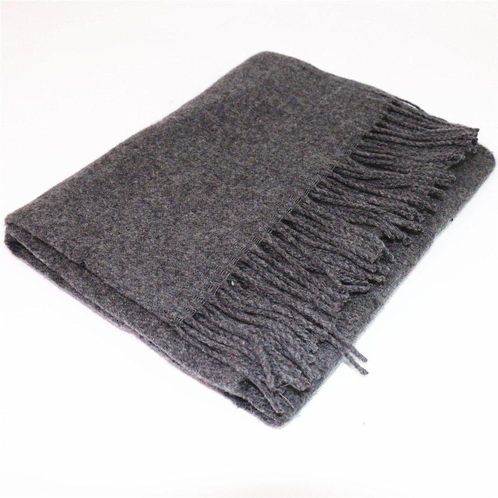 DIDIDD Scarf-hombres de otoño e invierno cómodo bufanda de lana caliente,C