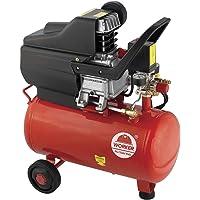 Compressor de Ar 2 hp Pistão 24L 8 Bar Worker Vermelho