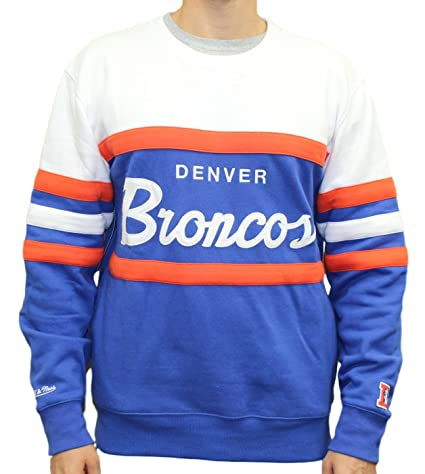 "71ff286e598 Denver Broncos Mitchell & Ness NFL ""Head Coach"" Men's Premium Crew  Sweatshirt"