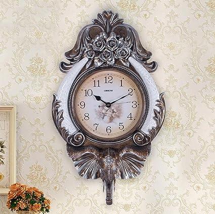 KYDJ Reloj de pared Salón Europeo de pared Reloj de pared Reloj vintage Arte Creativo Reloj